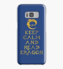 Keep calm and read Eragon (Gold text) Samsung Galaxy Case/Skin