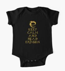 Keep calm and read Eragon (Gold text) Kids Clothes