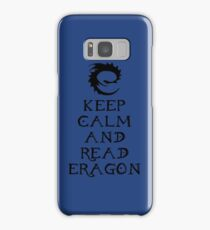 Keep calm and read Eragon (Black text) Samsung Galaxy Case/Skin