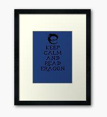 Keep calm and read Eragon (Black text) Framed Print