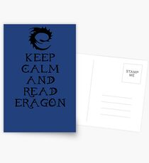 Keep calm and read Eragon (Black text) Postcards