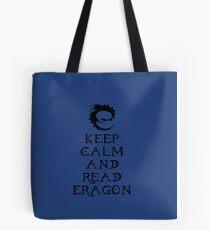 Keep calm and read Eragon (Black text) Tote Bag