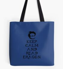 Keep calm and read Eragon (Black text) Tote Bag