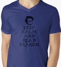 Keep calm and read Eragon (Black text) Mens V-Neck T-Shirt