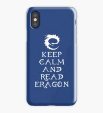 Keep calm and read Eragon (White text) iPhone Case/Skin
