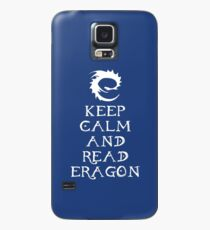 Keep calm and read Eragon (White text) Case/Skin for Samsung Galaxy
