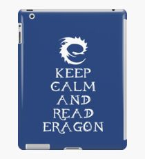 Keep calm and read Eragon (White text) iPad Case/Skin