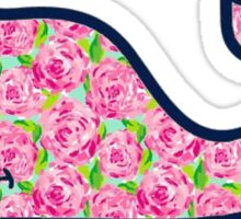 pink rose whale  Sticker
