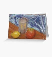 lemon apple still life Greeting Card