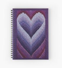 Honeymoon Heart Bargello Quilt Spiral Notebook