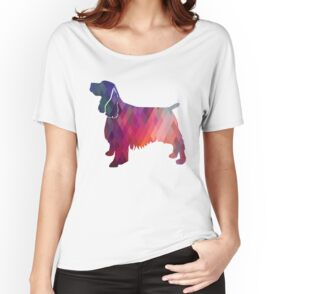 Quot Springer Spaniel Dog Colorful Geometric Pattern