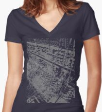 modular synthesizer T Women's Fitted V-Neck T-Shirt