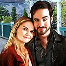 "Captain Swan ""In Love in Storybrooke"" by Marianne Paluso"