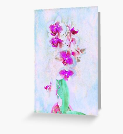 At Last Orchid Abstract Greeting Card