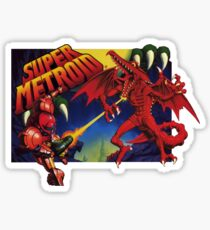 Super Metroid Box Art Sticker