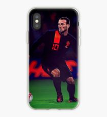Wesley Sneijder painting iPhone Case