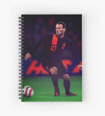 Wesley Sneijder painting Spiral Notebook