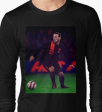 Wesley Sneijder painting Long Sleeve T-Shirt