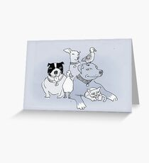 the pack  Greeting Card