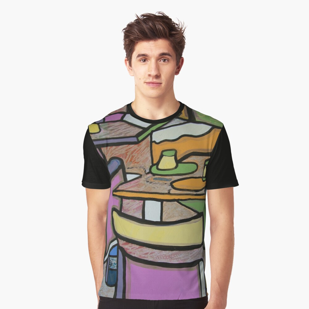 Urban Culture - Cafe Life Graphic T-Shirt Front