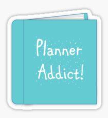 Pegatina Adicto al planificador
