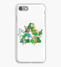 Happy running recyclables. iPhone Case/Skin