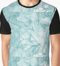 Cracked Glass Art Graphic T-Shirt