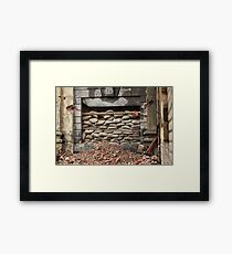 barricade of bags Framed Print