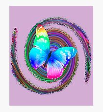 Butterfly Desing Graphic Multicolor Photographic Print