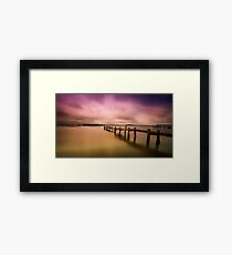 Old jetty 01 Framed Print