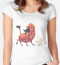 Camiseta entallada de cuello redondo Hakuna Matata