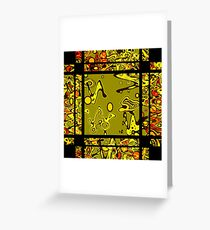 Abstraction. Modern and creative pattern. Greeting Card