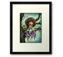 Cynthia and Critters Framed Print