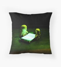Green Glow Gathering Throw Pillow