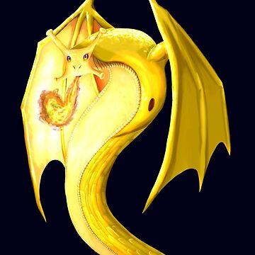 Banana Slug Dragon by StormCrow42