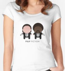 Pulp Fiction // Jules and Vincent Women's Fitted Scoop T-Shirt