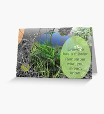 Mundy quote #8 Greeting Card