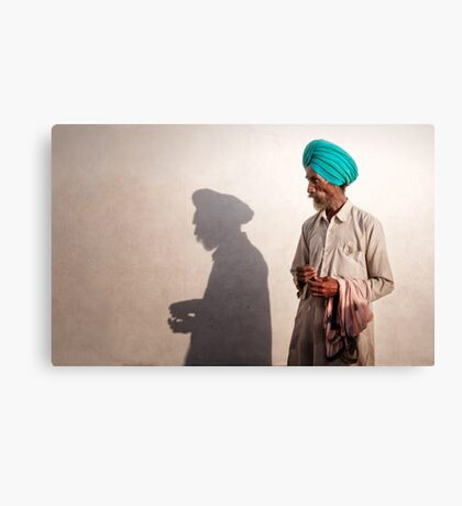 The Shadow of a Man Canvas Print