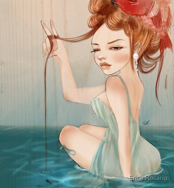 Drawing Day    Girl 64 : The other fish in the sea by Erica Rosario