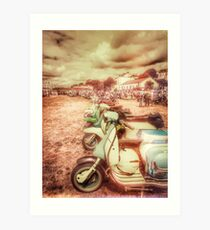 Exmouth Scooter Rally 2016 Art Print