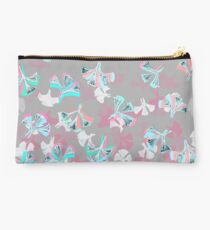 Flight - abstract in pink, grey, white & aqua Studio Pouch