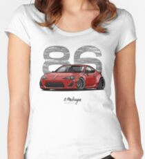 GT86 (red) Women's Fitted Scoop T-Shirt