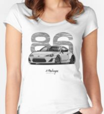 GT86 (white/grey) Women's Fitted Scoop T-Shirt