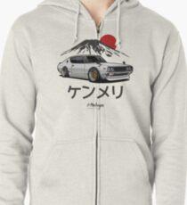 Skyline GTR Kenmeri (white) Zipped Hoodie