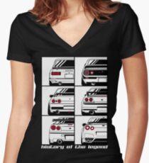 Camiseta entallada de cuello en V Horizonte. Historia