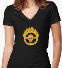 Mad Max - Fury Road Skull Women's Fitted V-Neck T-Shirt