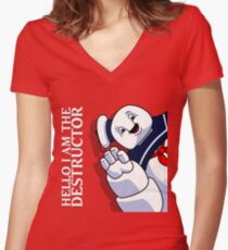 Hello I Am the Destructor Women's Fitted V-Neck T-Shirt