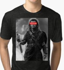 BRAVEHEART - freedom obey Tri-blend T-Shirt