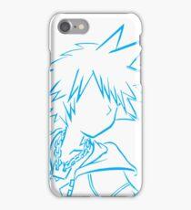 Sora bust lineart light blue iPhone Case/Skin
