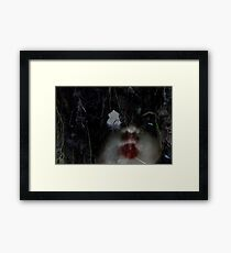 wood doll Framed Print